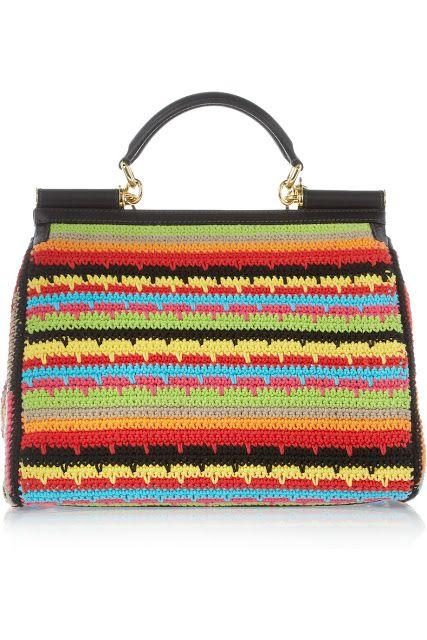 Dolce & Gabbanа crochet purse back