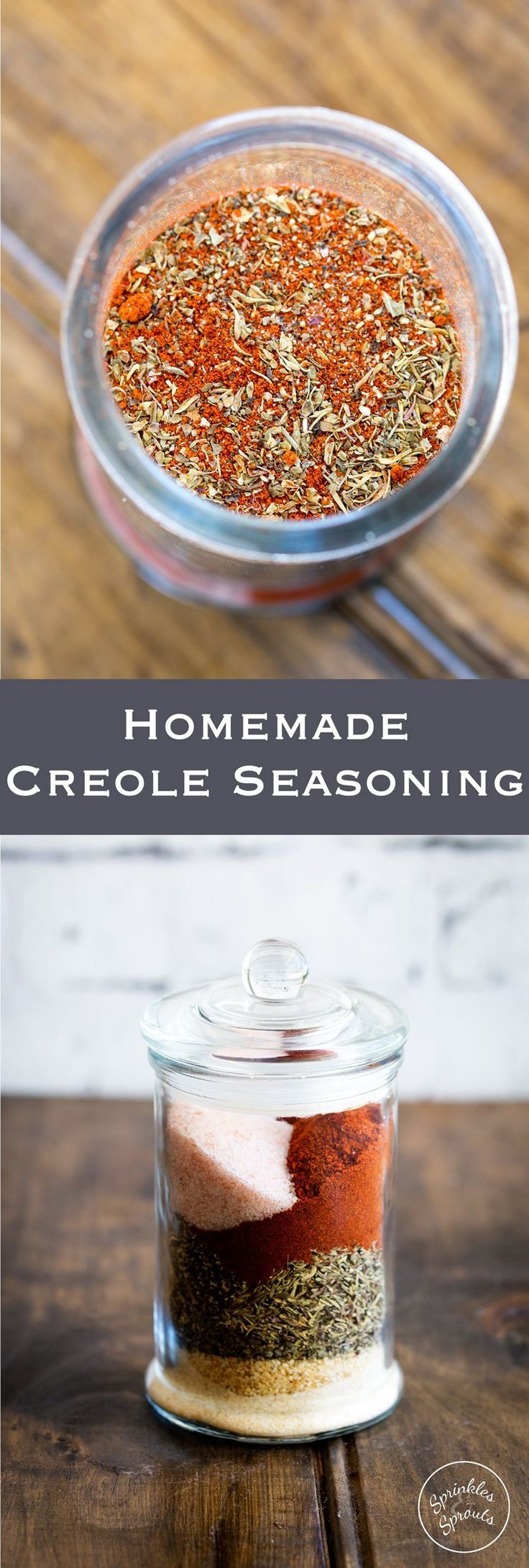 This Creole Seasoning is a wonderful blend of spices that could only come from New Orleans!! Perfect for adding flavour to so many dishes! From www.sprinklesands...