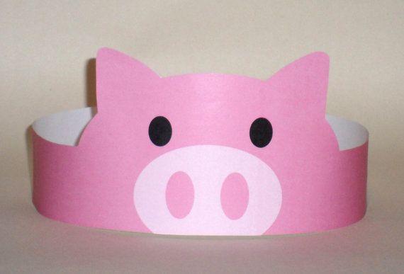 Pig Paper Crown Printable by PutACrownOnIt on Etsy