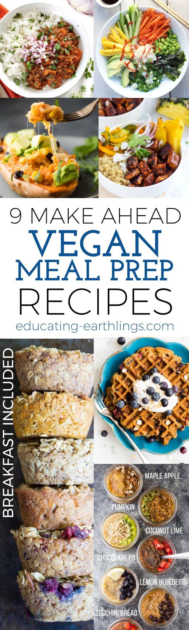 9 Make Ahead Vegan Meal Plan Ideas