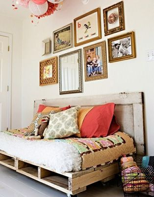 This could be interesting for the guest bedroom. It could feel more like a sitting room or study and less like a bedroom, with something like this