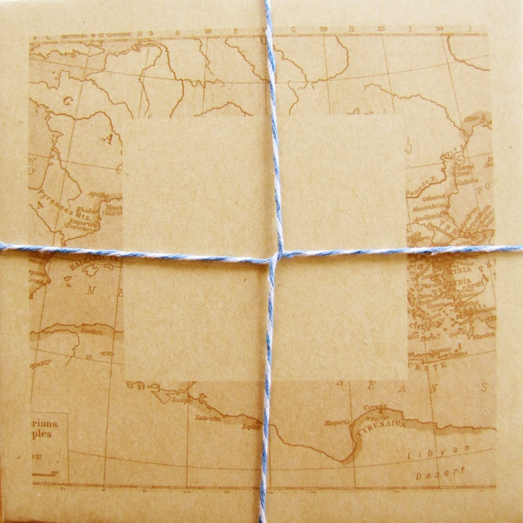 Sutherland Design's Map Themed Envelope with String