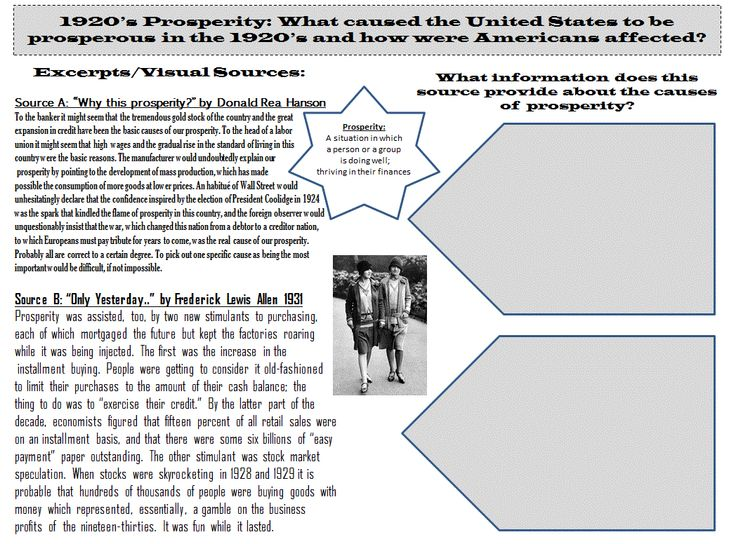 1920 prosperity Poverty in the 1920s some groups did not participate fully in the emergent consumer economy, notably both african american and white farmers and immigrants.