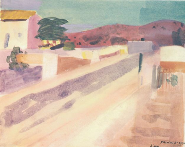 Louis Moilliet: Strasse in Sitges I 1930
