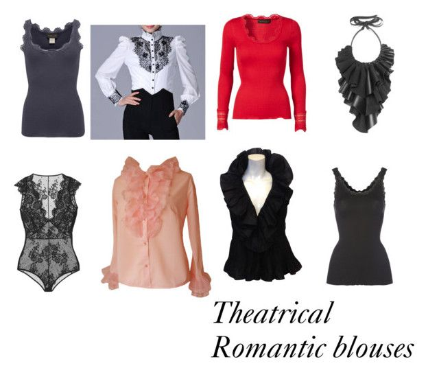 Theatrical Romantic blouses . Some of them need belts of course.