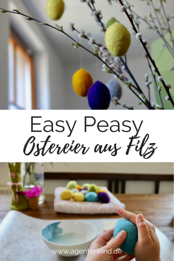 DIY Anleitung für Easy Peasy Ostereier aus Filz #DIY #Ostern #easy #filz #handmade