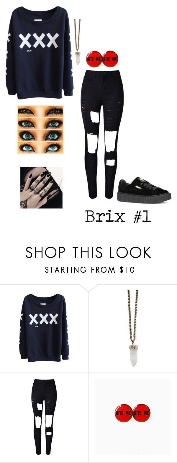 """""""Untitled #19"""" by maxyoongi on Polyvore featuring Givenchy, WithChic and Puma"""