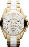 Michael Kors Gold Tone White Chronograph Women's Watch - MK5743
