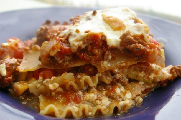 easy vegetarian lasagna. 5 ingredients