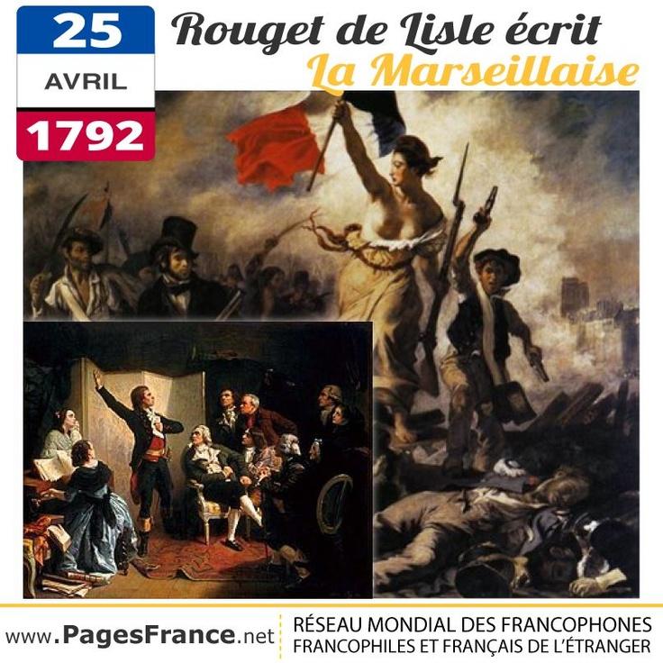 """5 avril 1792, la France révolutionnaire est en guerre contre les puissants royaumes d'Europe. Pour encourager les soldats, le jeune officier, Joseph Rouget de Lisle, compose un chant patriotique qui commence par ces mots : """"Aux armes citoyens !"""". Symbole de la Révolution, il devient l'hymne national français."""