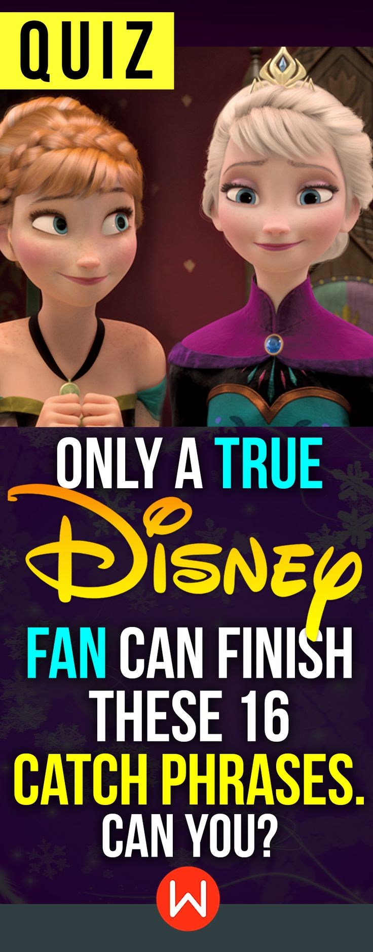 """Disney Quiz: Can you finish 16 Disney catch phrases? DO you think you've seen enough Disney movies to ace this quiz? Prove you are an AUTHENTIC Disney fan, who knows everything Disney! Will you? buzzfeed quizzes, playbuzz quiz, Disney test. """"It's kind of fun to do the impossible (passing this quiz)."""" - Walt Disney"""