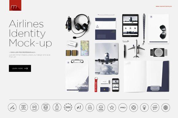 Airlines Company Identity 2 Mock-up by mesmeriseme.pro on @creativemarket
