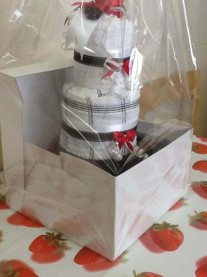 Wedding Gift Tea Towels : Tea Towel wedding cake gift. Contains 12 Tea Towels, in a novel ...