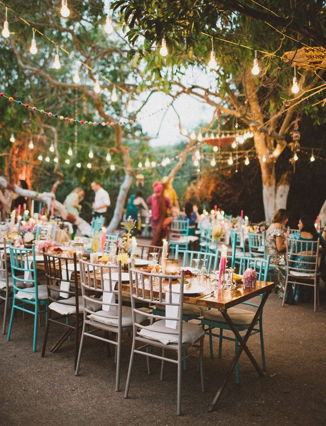 colorful indian wedding reception