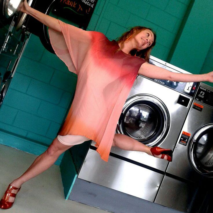 Dancer at the laundromat, Snap Laundromat, Taringa Brisbane. #Snap Laundromat #snaplaundromat #Taringa #Brisbane #Laundromats #Dancing #Collusion Music