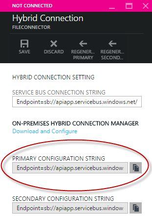 Azure API App Hybrid Connection Configuration