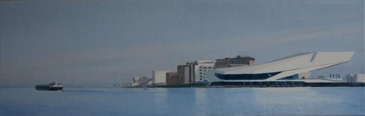 """Gineke Zikken """"Eye Amsterdam""""   (40 x 125 cm)"""