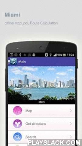 Miami Map Offline  Android App - playslack.com ,  Miami (United States) Map offline - is an application that allows you to view online and offline Miami map in yourmobile phone. 2 types of maps are attached in application: 1st map: Offline map. You can download it in Wi-fi service area and use without Internet.2nd Map: Online map. Allows you to search for addresses, save points on the map. Map access is free of charge.Application functions are available: 1. Add any objects to your favorites…