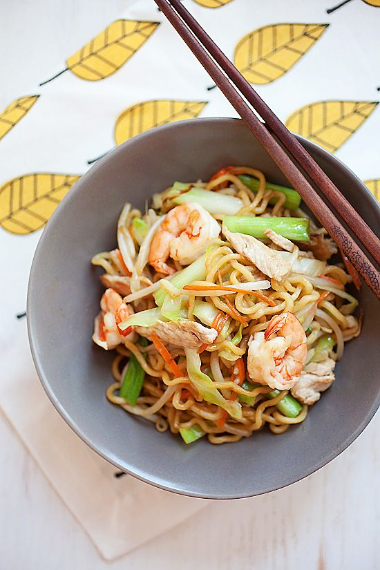 Chow Mein - quick, delicious and healthy Chinese noodles recipe that is MUCH…