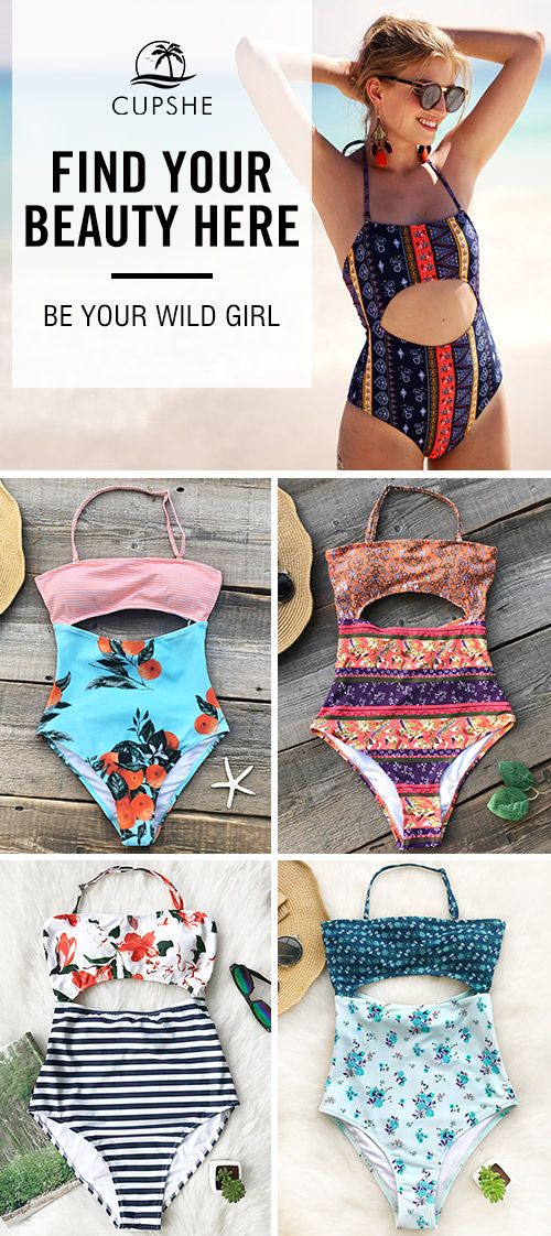 Chic and ready for the beach. It's time to reconsider your holiday swimwear when this season's swimwear look like these. Fun meets sexy, waist-cutout design, which guarantees a spell under the sun!