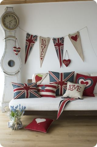 london: Decor, Flags, Red White Blue, British Style, Unionjack, Jack O'Connel, Pillows, Banners, Union Jack