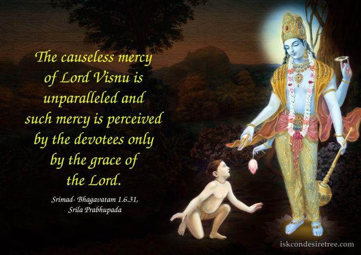 Srila Prabhupada On Causeless Mercy Of Lord Visnu