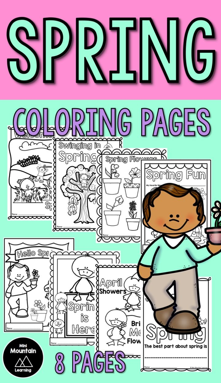 Spring coloring pages for kids/ Spring activities for kids/ Spring activities for elementary/ Spring printable
