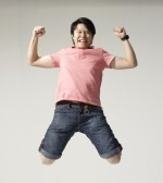 Dance : The man jump for joy and fun 6 Stock Photo