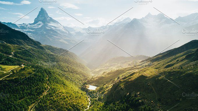 Matterhorn mountain in Swiss Alps by 5max on @creativemarket