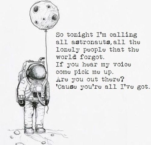 not for the simple plan lyrics. only for astronauts. #brandnew