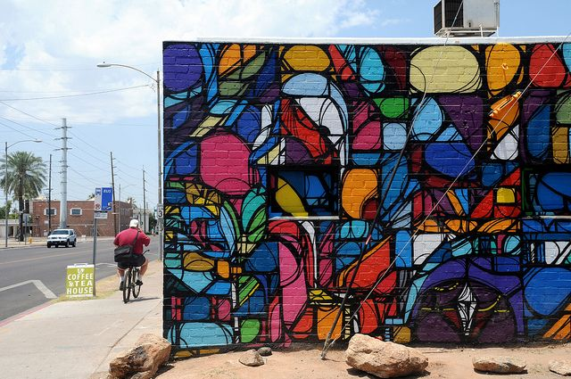 1st Friday of every month go to Roosevelt Row Arts District / Street Art  / downtown Phoenix, Arizona, USA