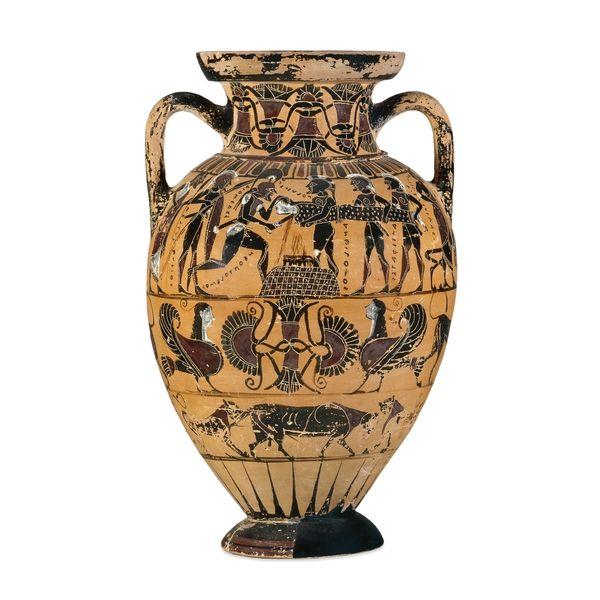 The Sacrifice Of Polyxena The Vase Painter Presents The