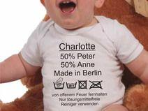 Baby Body mit Pflegeanleitung