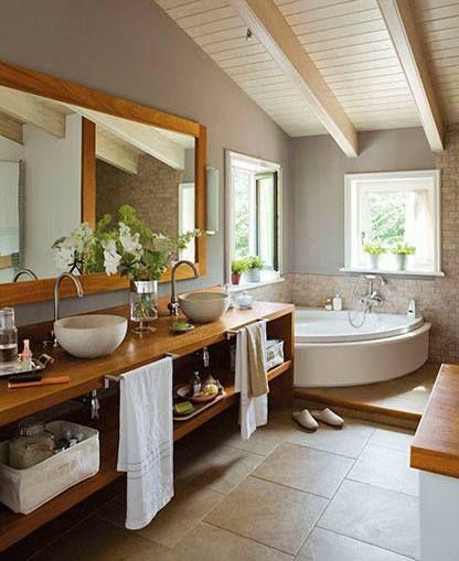 Baño Relajante En Jacuzzi:Rustic Bathroom Jacuzzi