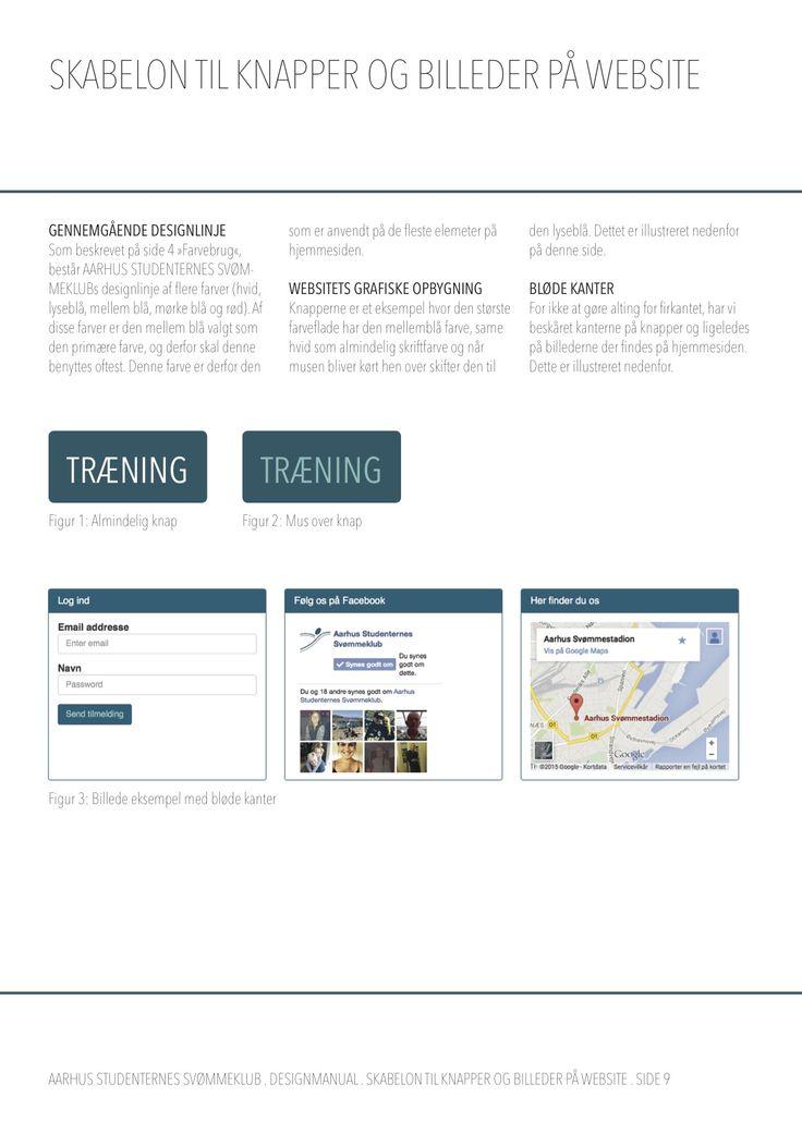 Designmanual - skabelon til knapper og billeder på website.
