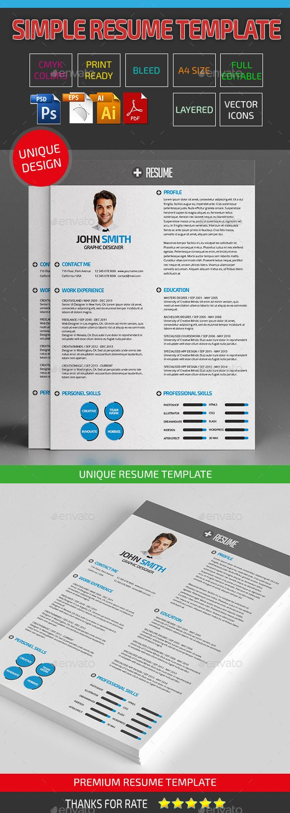 Best Cv Inspiration  Board Images On   Resume