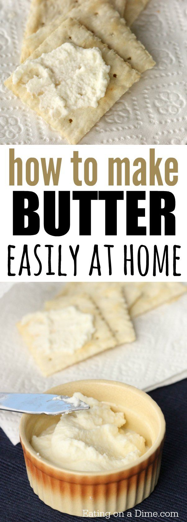 Try this delicious Homemade butter recipe. How to make butter with heavy whipping cream that tastes great. Making butter at home is super easy and fun for the kids
