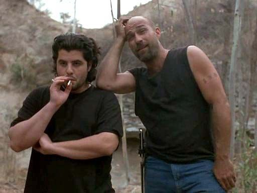 "Sage Stallone Kevin Gage in ""Chaos - The House in the Middle of Nowhere"" (2005) #TheLastHouseOnTheLeft #SageStallone"