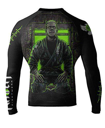 Raven Fightwear Men's BJJ Horror Frankenstein's Monster MMA Rash Guard...