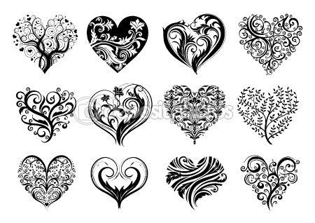 Scroll idea for tatt hearts