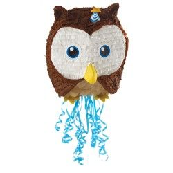 Owl Blue Pull-String Pinata party supplies