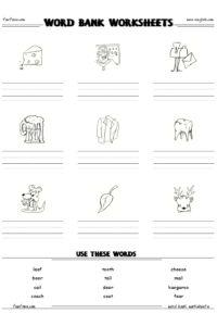 free word bank worksheet maker writing and spelling worksheet generator and free printable. Black Bedroom Furniture Sets. Home Design Ideas