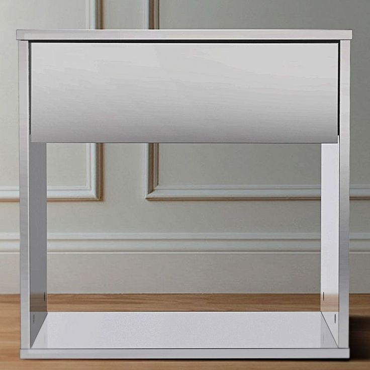 Opt for sleek contemporary looks and ultimate functionality with the durable build of the Amanda Bedside Table, White from Emma's Design.