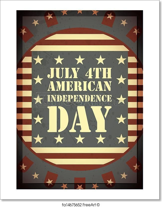 """""""Independence Day of America"""" - Art Print from FreeArt.com"""