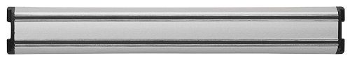 """11.5"""" Aluminum Magna Bar by Zwilling JA Henckels. $24.95. Cleaning & Care: Wipe clean with damp cloth. Size: 12 1/3-in., Magnetic strips 12-in.. Material: Aluminum. Origin: Germany. Warranty: 1-year. 32622-300 Features: -Holds your knives for easy access.-Attractive design.-Provides safe storage. Dimensions: -Length: 11.5''.. Save 22% Off!"""