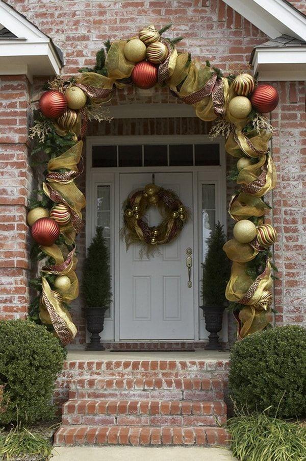 Ideas para decorar entradas de casas para #Navidad