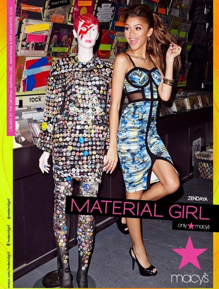Zendaya Models for Madonna's Spring 2015 Material Girl Campaign