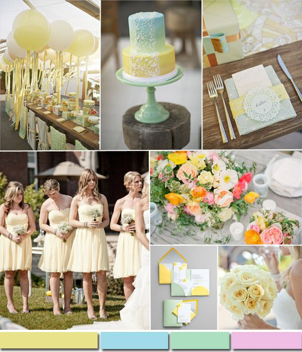 pastel soft lemon spring summer wedidng color trends 2015