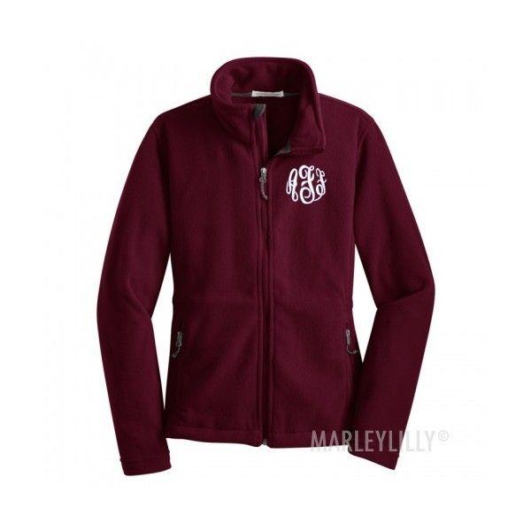 Monogrammed Jackets | Marleylilly ($50) ❤ liked on Polyvore featuring outerwear, jackets, monogram jackets and purple jacket