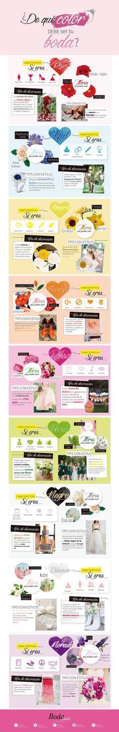 Si te vas a casar, no te puedes perder por ningún motivo estas recomendaciones para que elijas el color de tu boda según tu personalidad. | color, ideas, boda, tema, organizar, planeacion, tips, novia | bodatotal.com